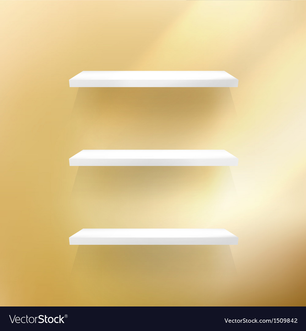 Detailed of shelves on gold vector | Price: 1 Credit (USD $1)