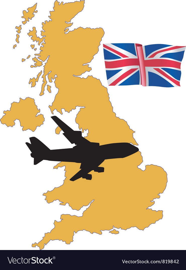 Fly me to the united kingdom vector | Price: 1 Credit (USD $1)