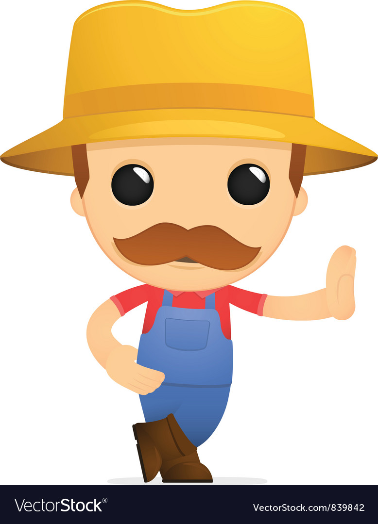 Funny cartoon farmer vector   Price: 1 Credit (USD $1)