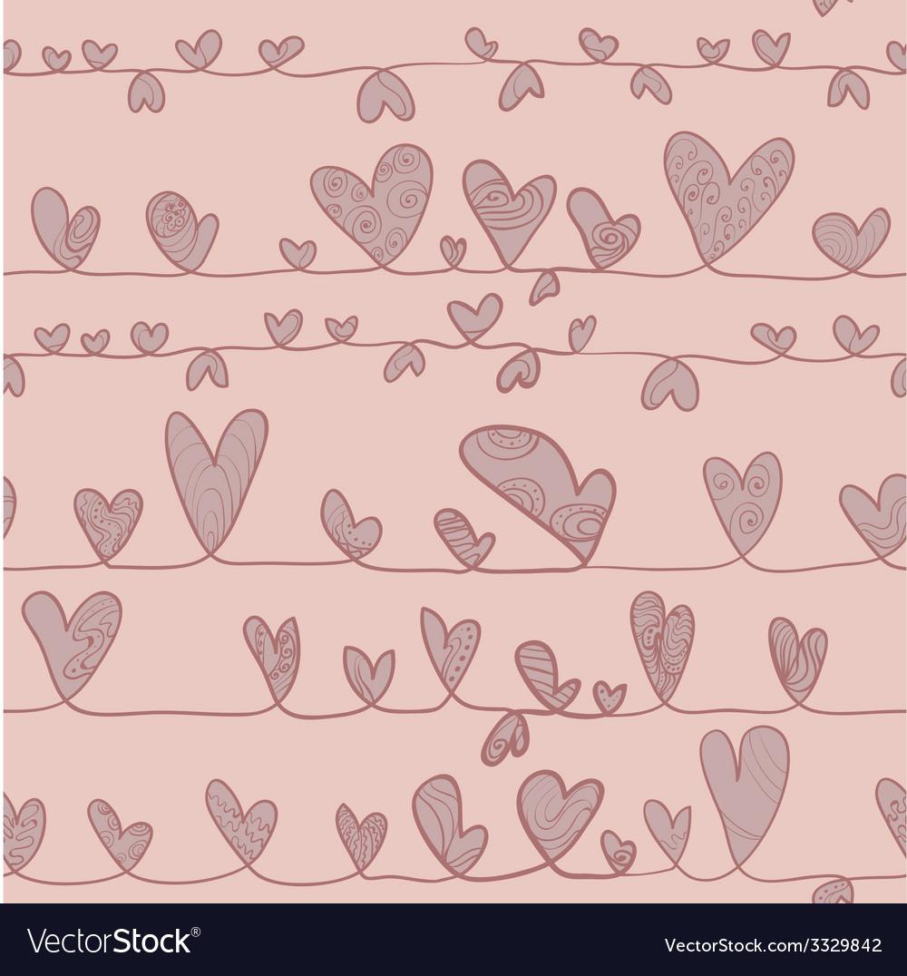 Hearts on stripe vector | Price: 1 Credit (USD $1)