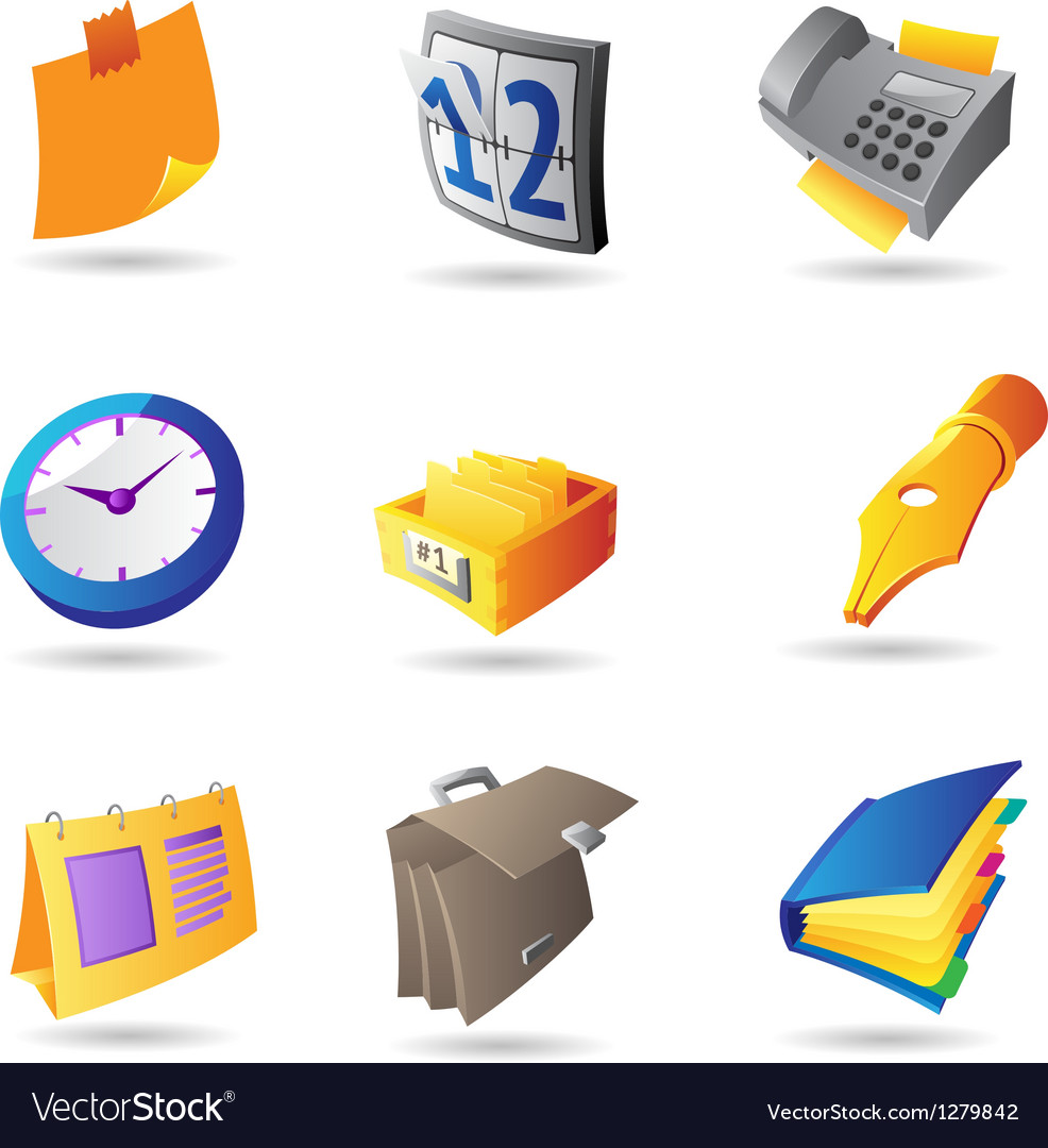 Icons for office vector   Price: 1 Credit (USD $1)