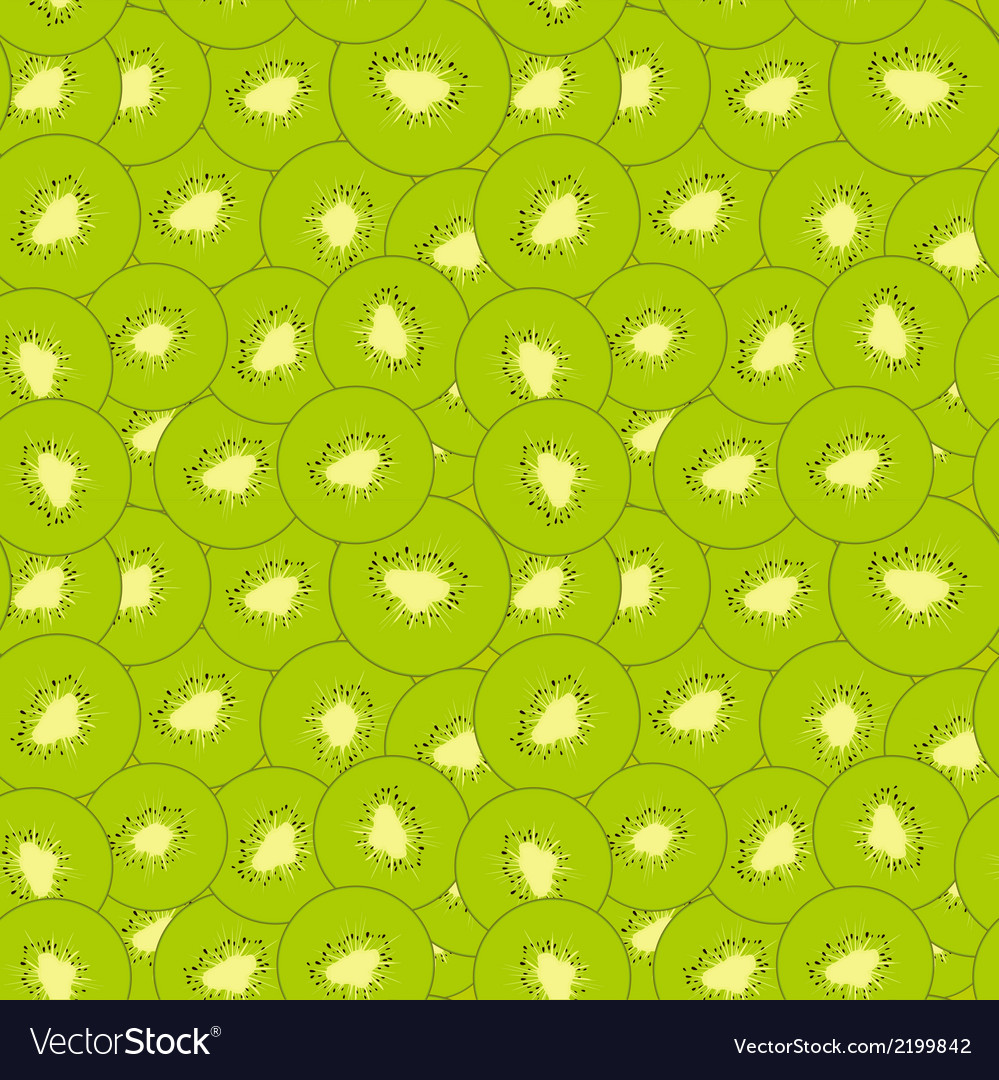 Kiwi seamless pattern vector | Price: 1 Credit (USD $1)