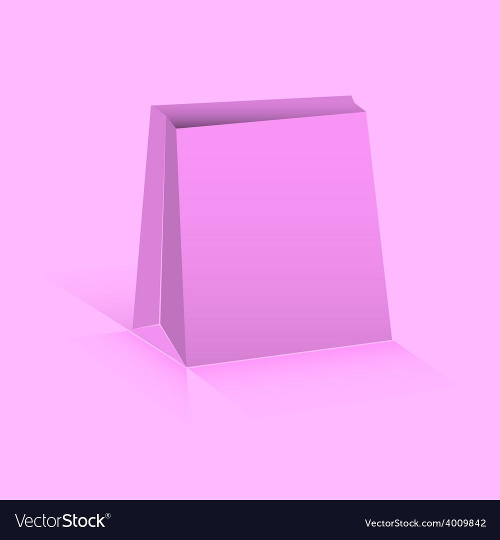 Pink paper bag vector | Price: 1 Credit (USD $1)