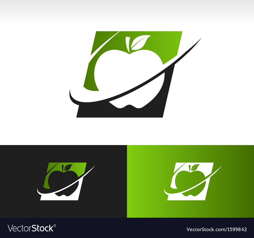 Swoosh apple logo icon vector | Price: 1 Credit (USD $1)