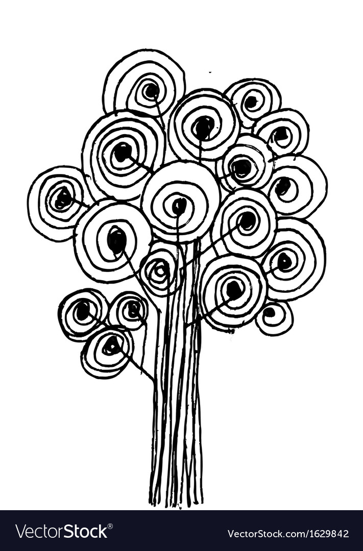 Trees design background vector | Price: 1 Credit (USD $1)