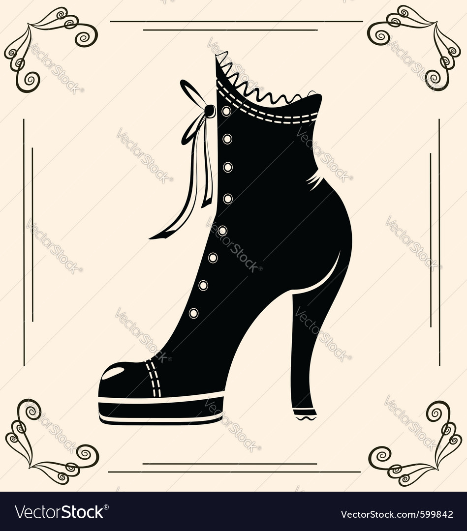 Vintage ladies shoe vector | Price: 1 Credit (USD $1)