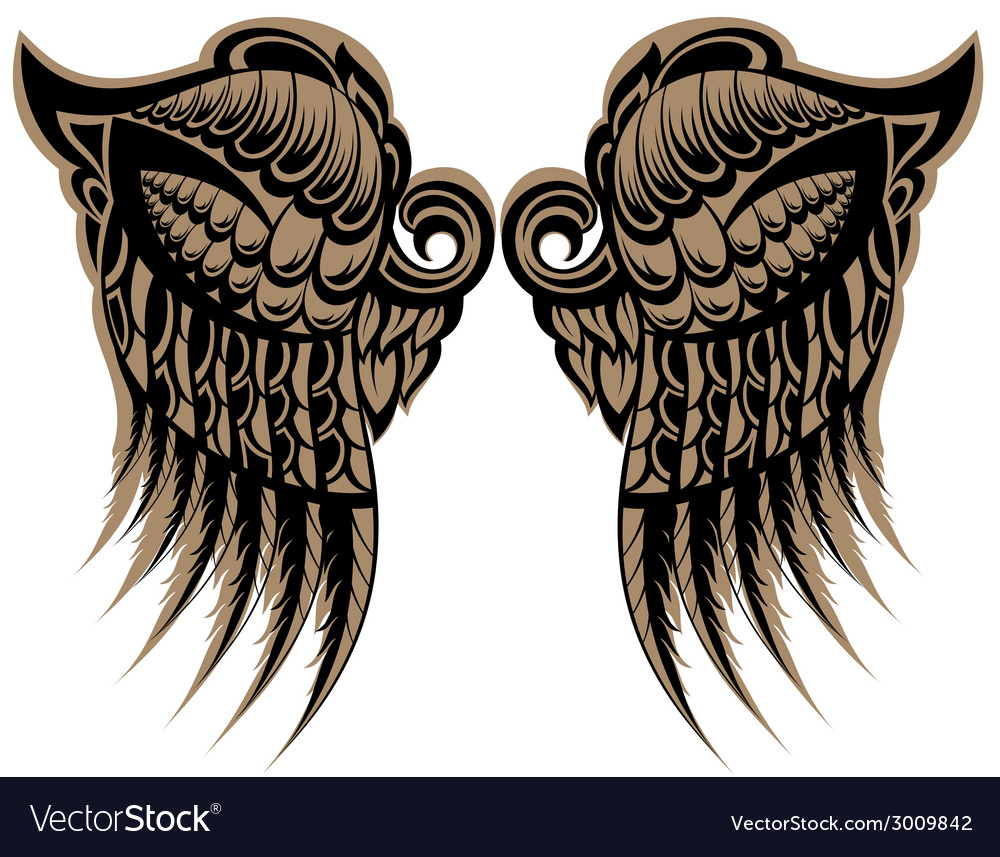 Winged tattoo vector | Price: 1 Credit (USD $1)
