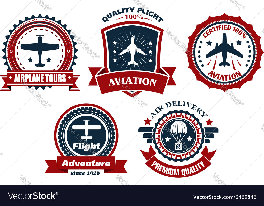 Aircraft and aviation banners vector | Price: 1 Credit (USD $1)