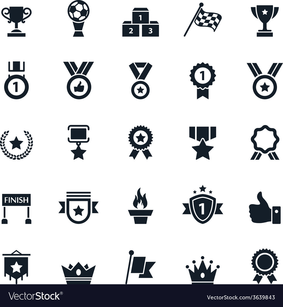 Awards and trophy icons vector | Price: 1 Credit (USD $1)