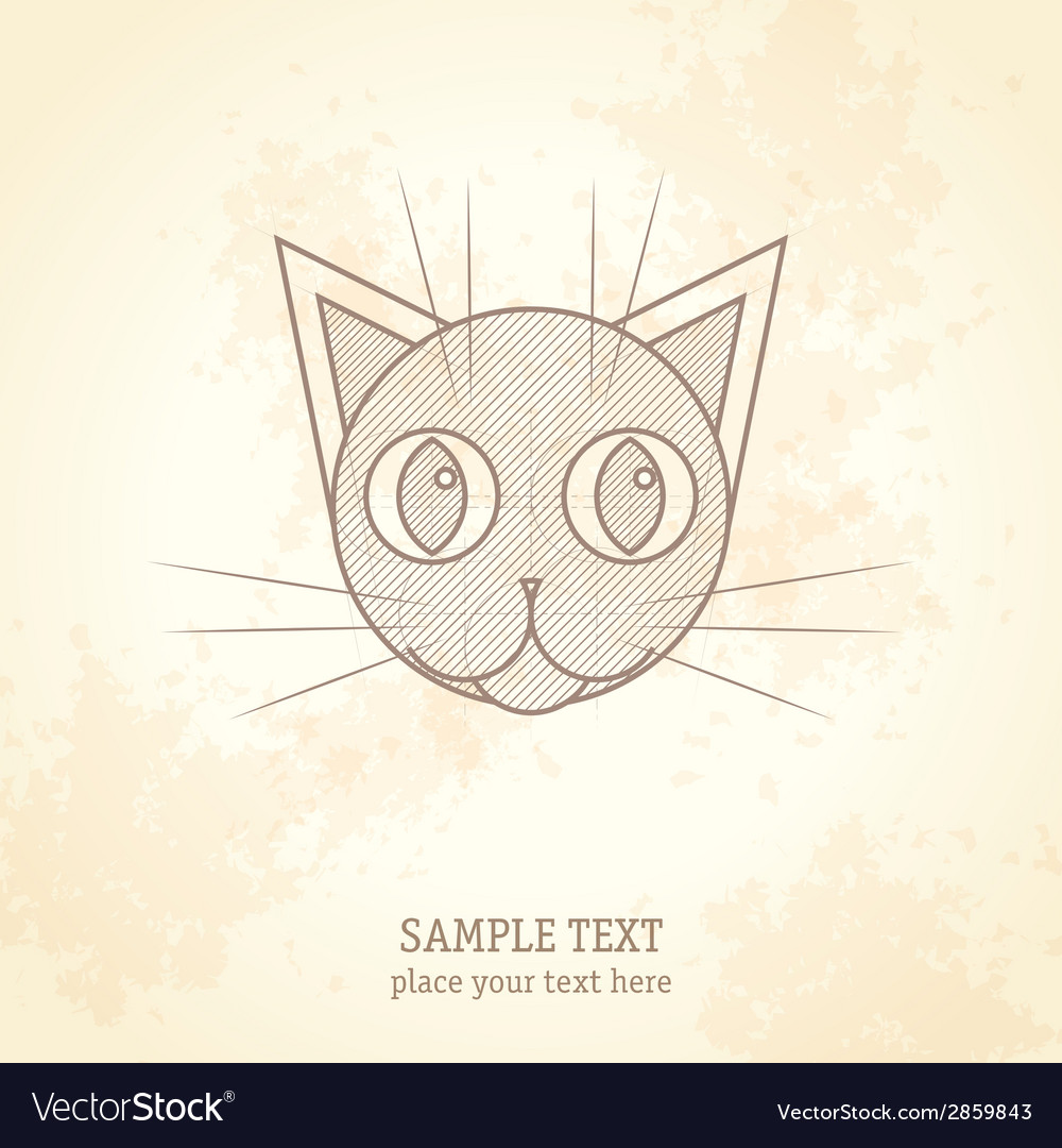 Cat head vector | Price: 1 Credit (USD $1)