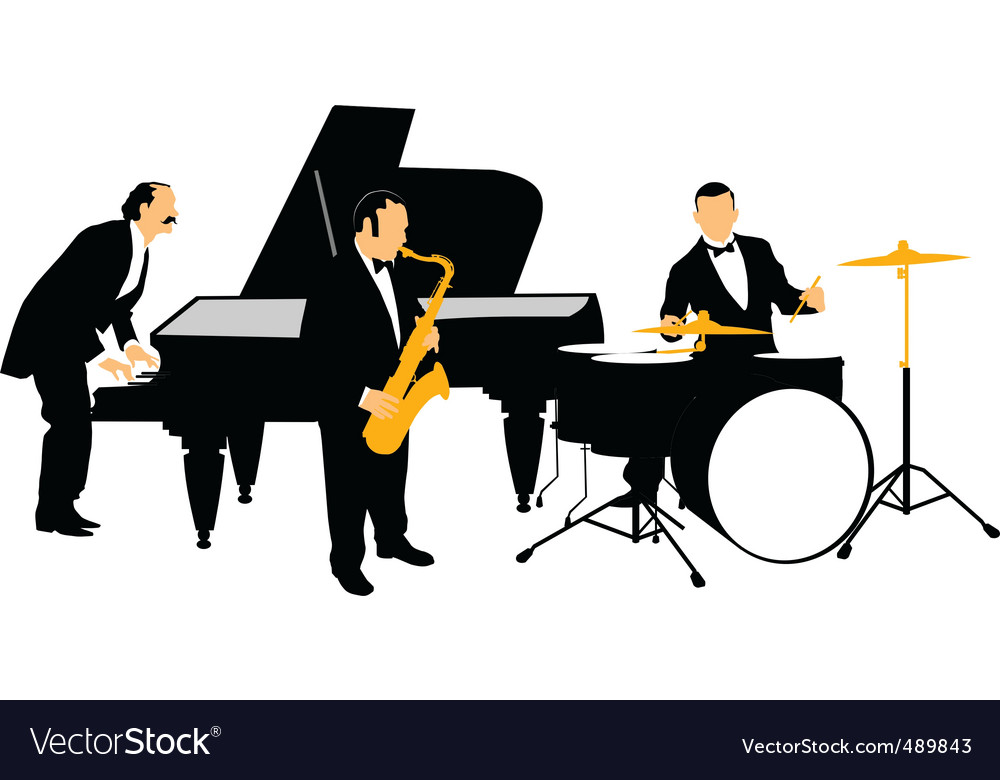Jazz orchestra vector | Price: 1 Credit (USD $1)