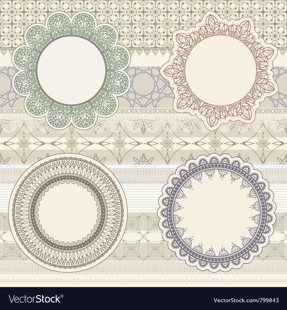 Lacy napkins vector | Price: 1 Credit (USD $1)