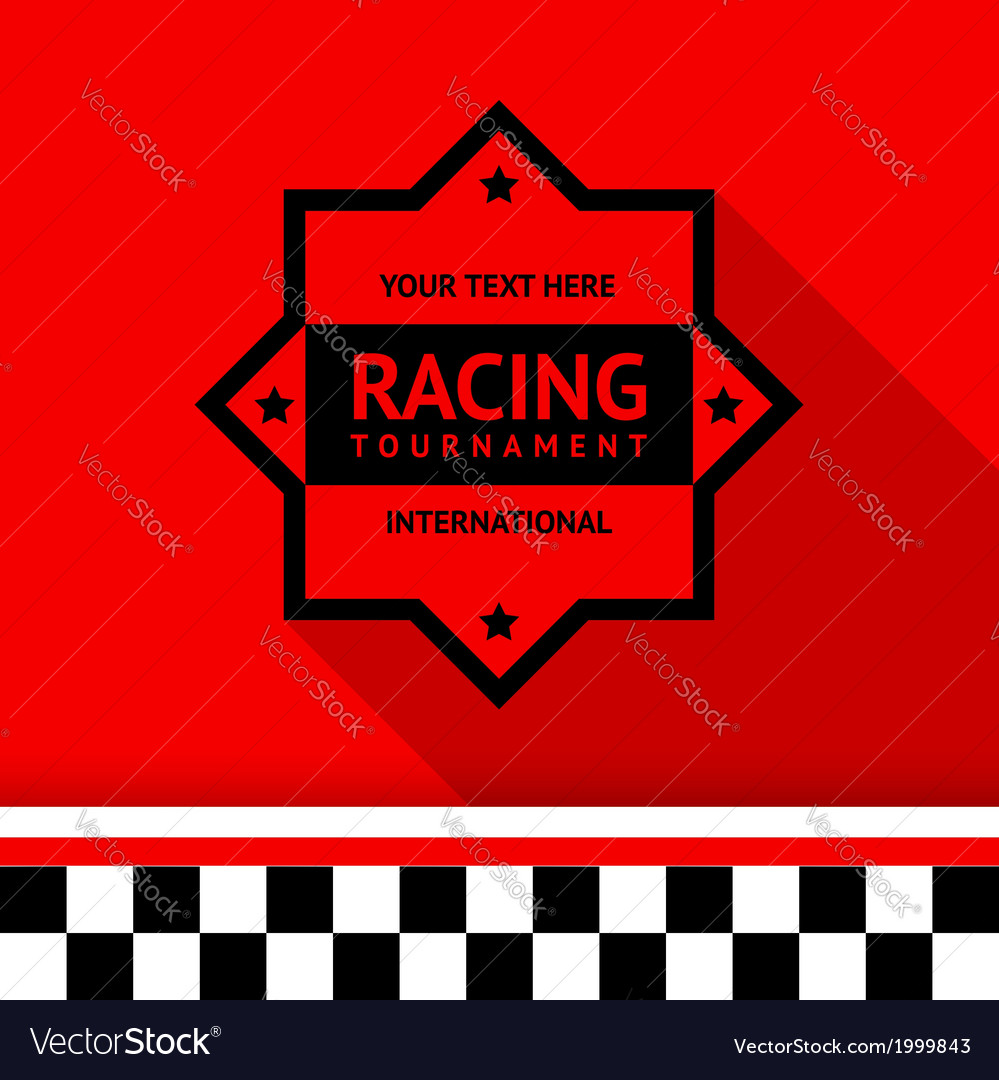 Racing stamp-04 vector | Price: 1 Credit (USD $1)
