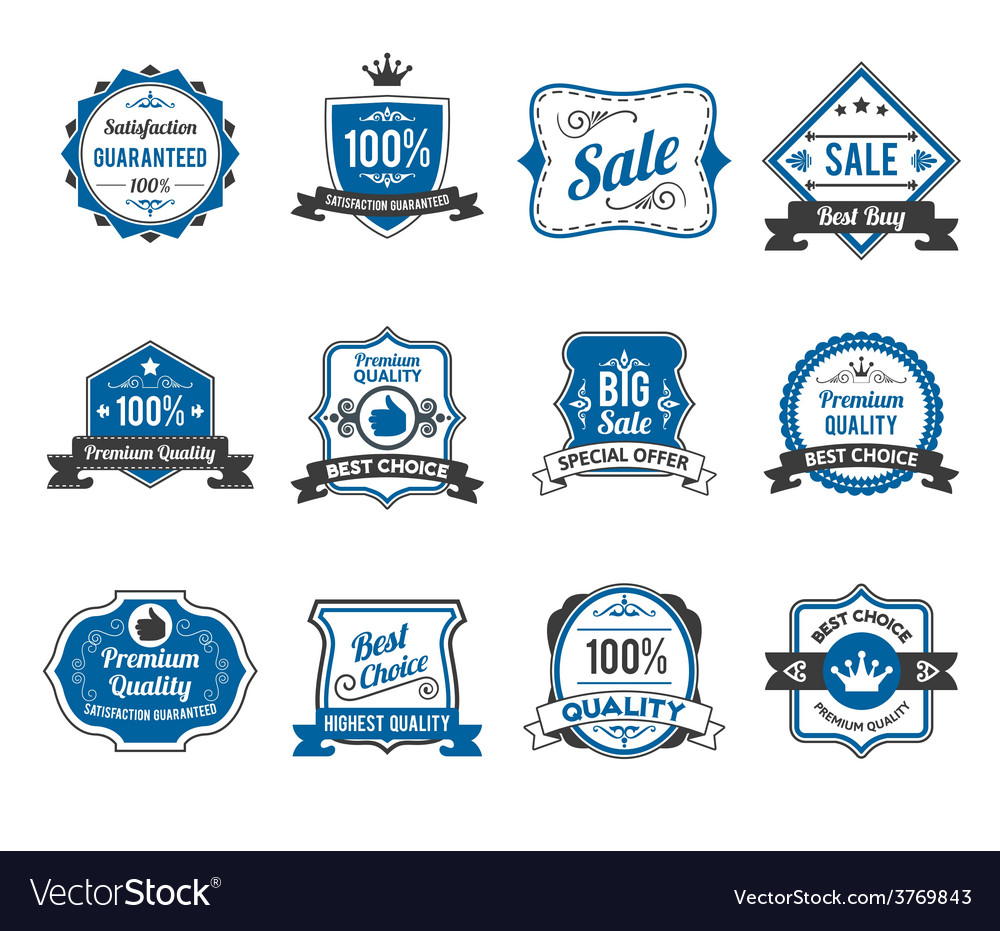 Retro sales labels icons collection vector | Price: 1 Credit (USD $1)