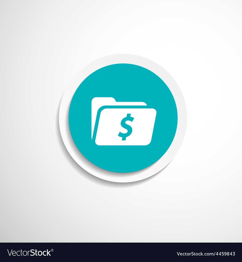Shopping dollar folder file icon internet symbol vector | Price: 1 Credit (USD $1)