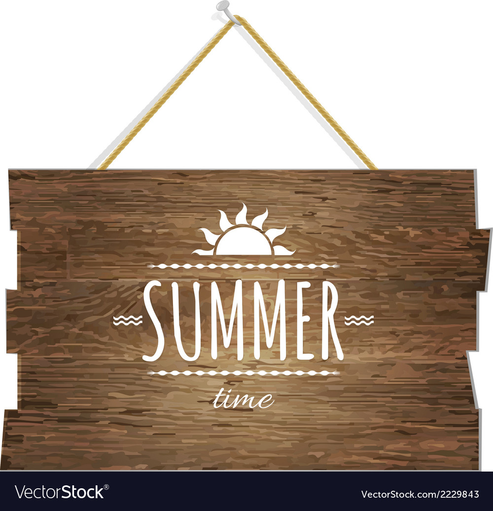 Summer time wooden board vector | Price: 1 Credit (USD $1)