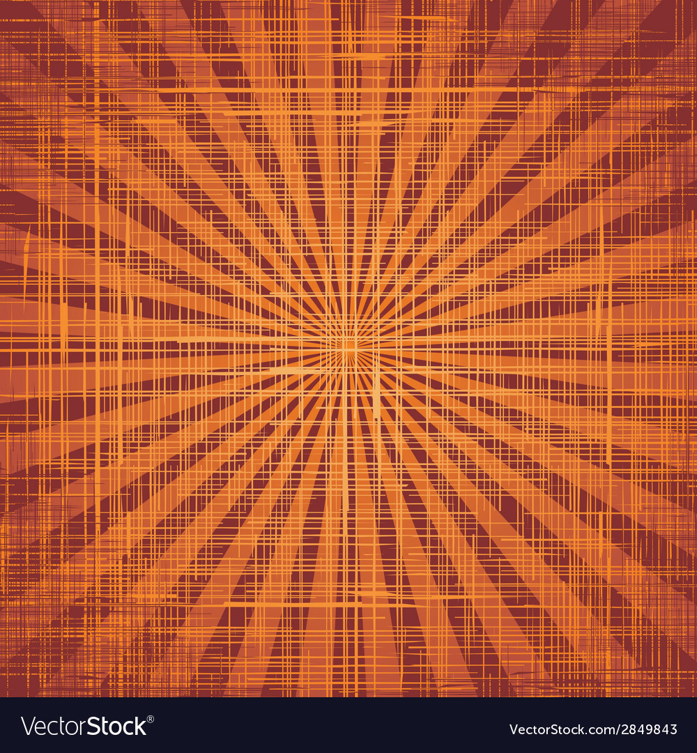 Sun with rays on grunge cloth texture vector | Price: 1 Credit (USD $1)