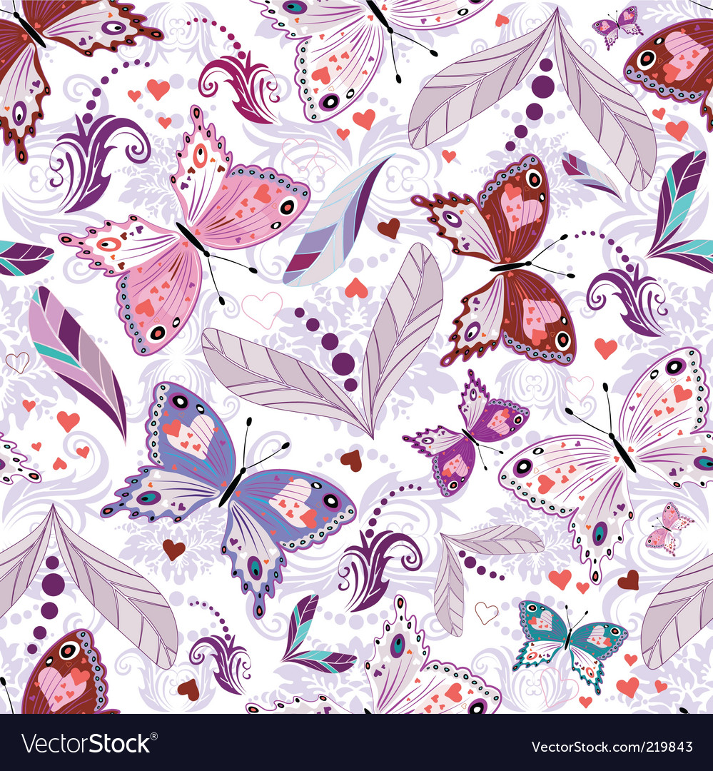 White seamless valentine pattern vector | Price: 1 Credit (USD $1)