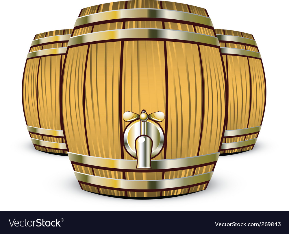 Wine barrels vector | Price: 1 Credit (USD $1)