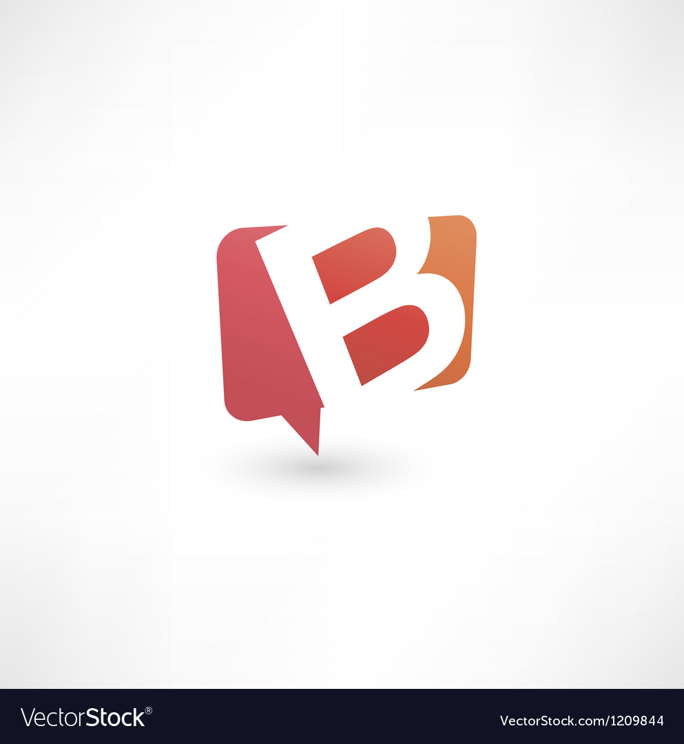 Abstract bubble icon based on the letter b vector | Price: 1 Credit (USD $1)