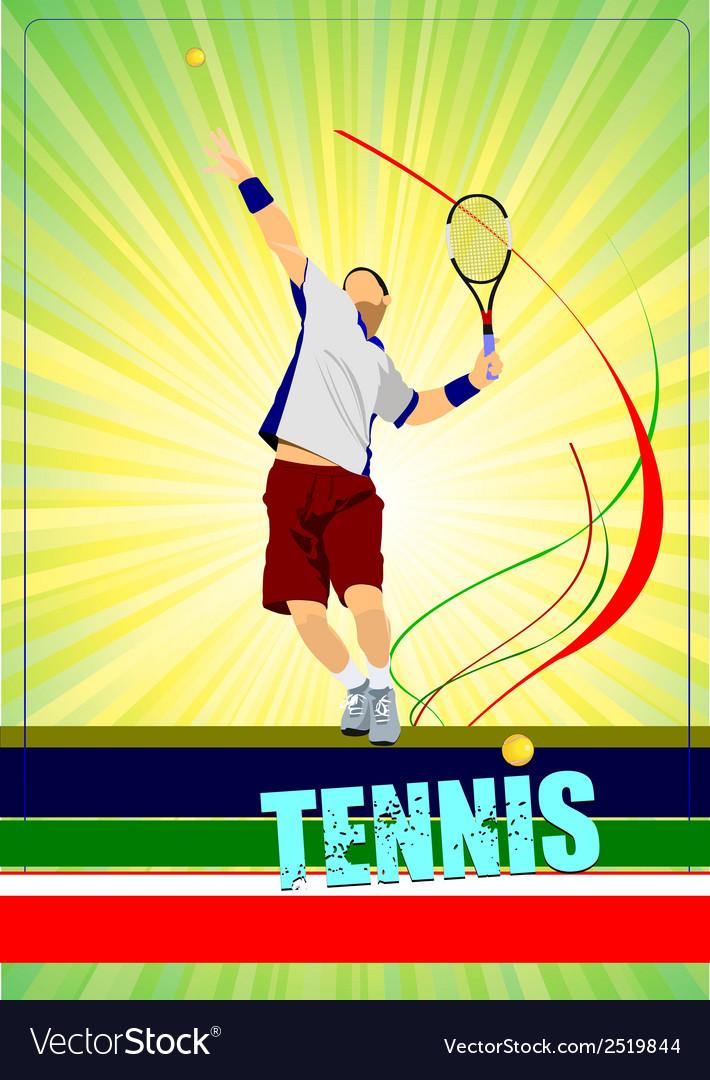 Al 0344 tennis poster 01 vector | Price: 1 Credit (USD $1)