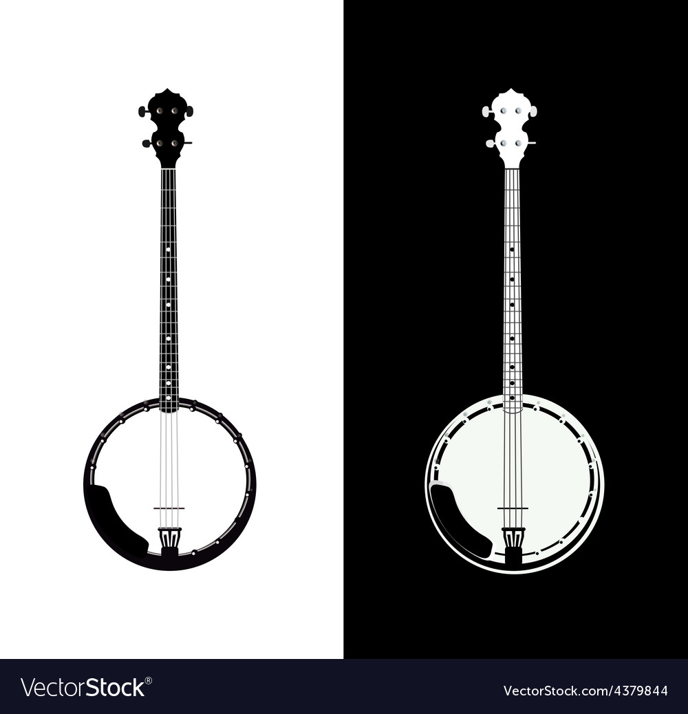 Banjo isolated vector | Price: 1 Credit (USD $1)