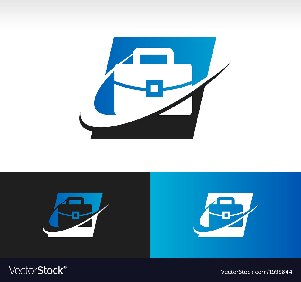 Briefcase swoosh logo icon vector | Price: 1 Credit (USD $1)