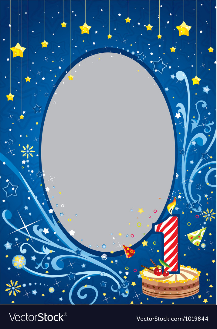 First birthday frame vector | Price: 1 Credit (USD $1)