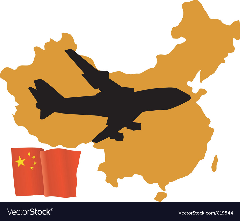 Fly me to the china vector | Price: 1 Credit (USD $1)