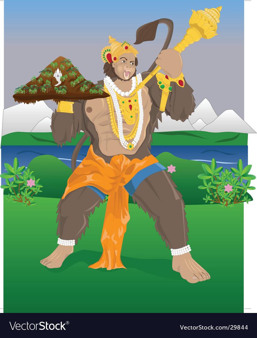 Hanuman vector   Price: 5 Credit (USD $5)