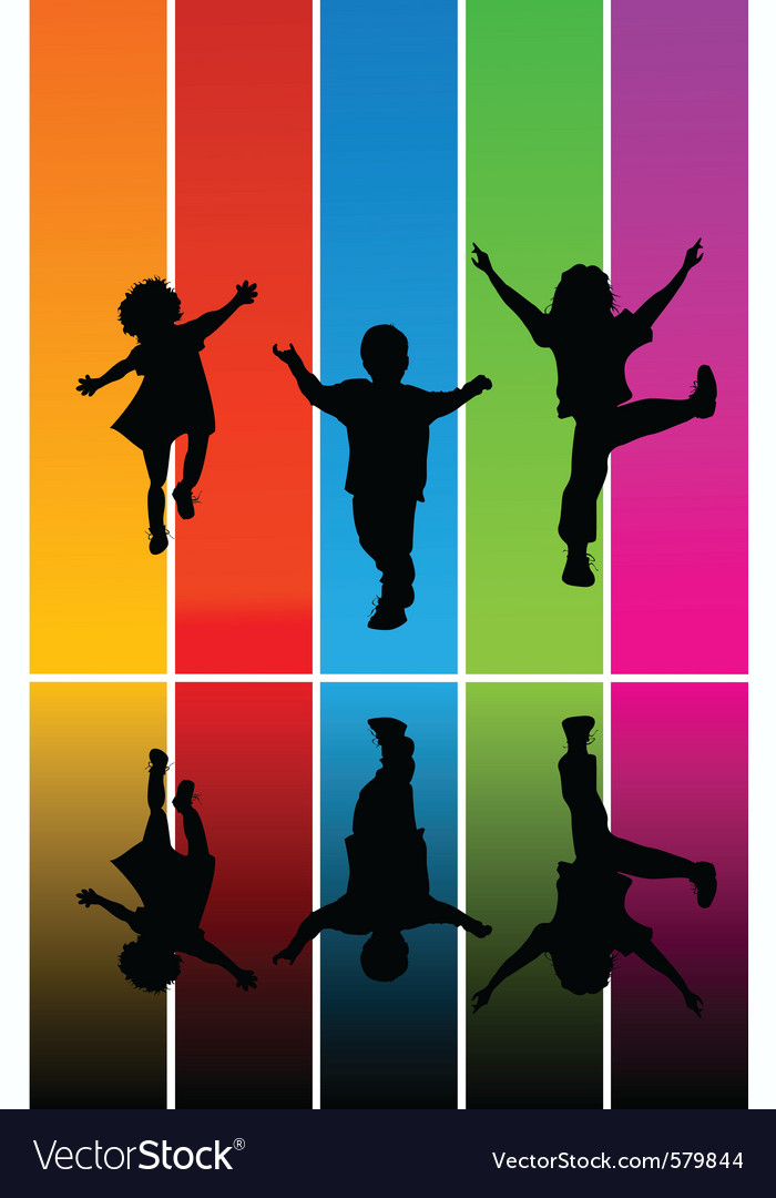 Jumping children vector | Price: 1 Credit (USD $1)
