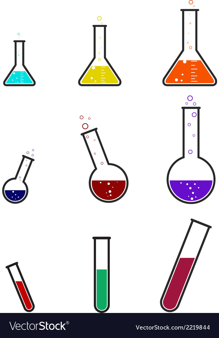 Laboratory equipmet icons set 1 vector | Price: 1 Credit (USD $1)