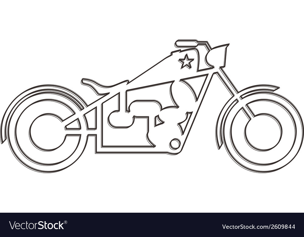 Motorbike design vector | Price: 1 Credit (USD $1)
