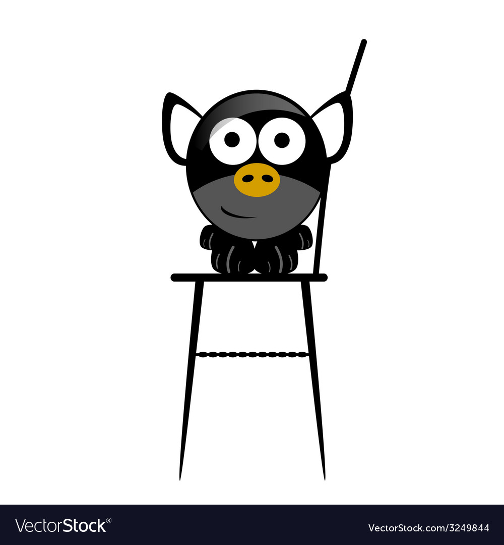 Piggy in the chair vector | Price: 1 Credit (USD $1)