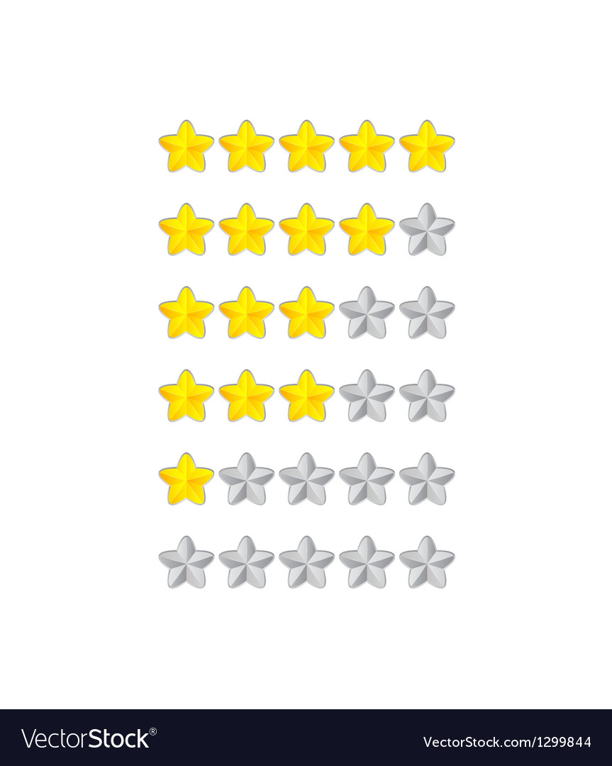 Progress bar from flower stars vector | Price: 1 Credit (USD $1)