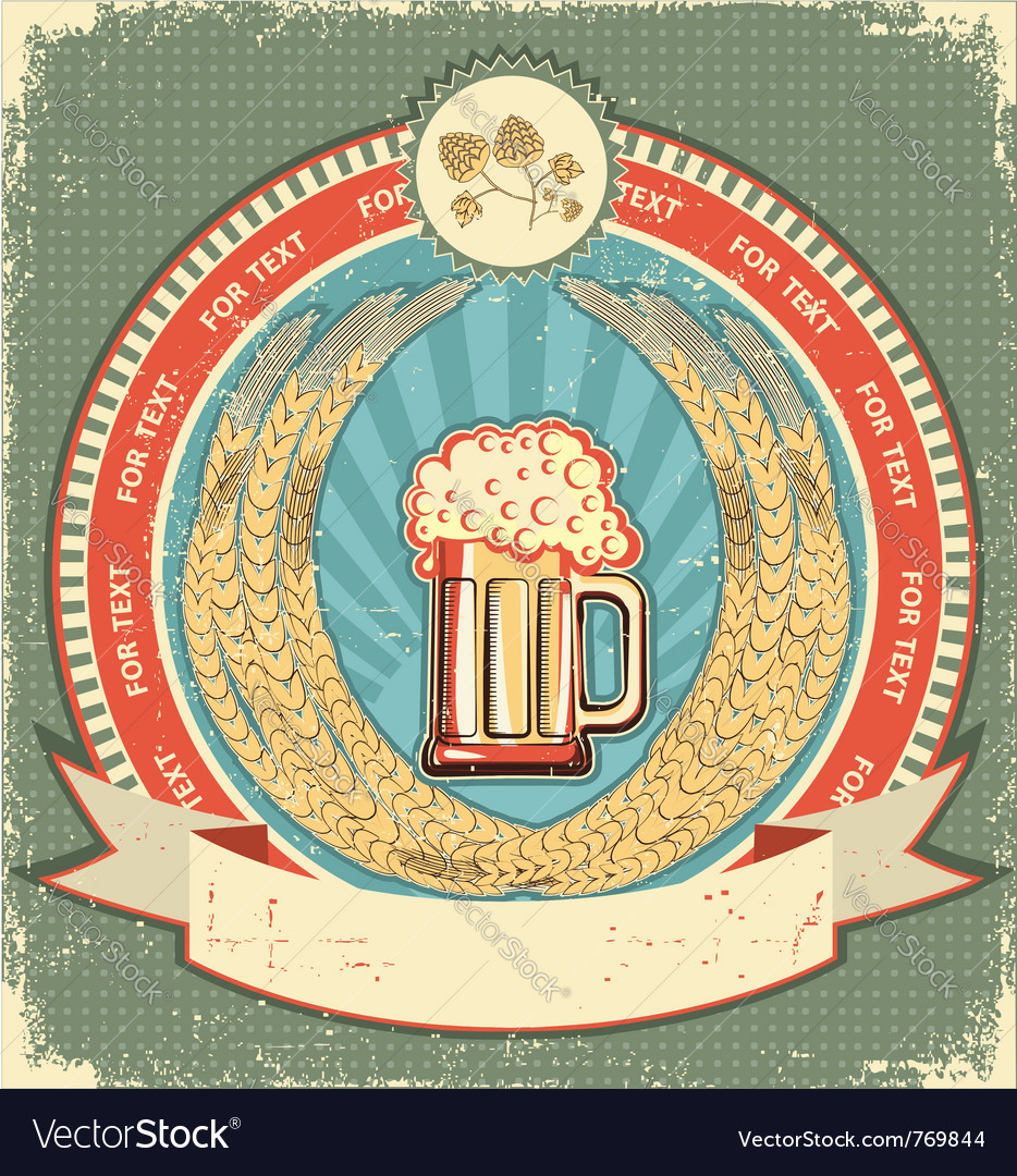 Retro beer label vector | Price: 1 Credit (USD $1)