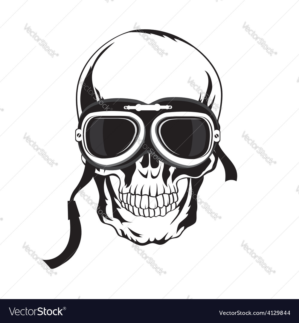 Skull tshirt design tatoo art vector