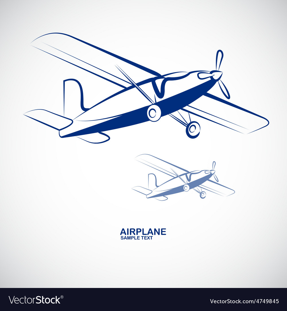 Airplane 7 vector | Price: 1 Credit (USD $1)