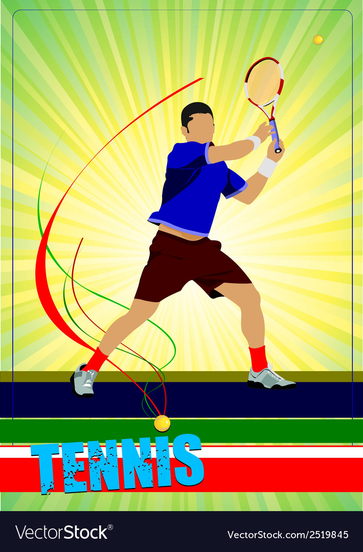Al 0344 tennis poster 02 vector | Price: 1 Credit (USD $1)
