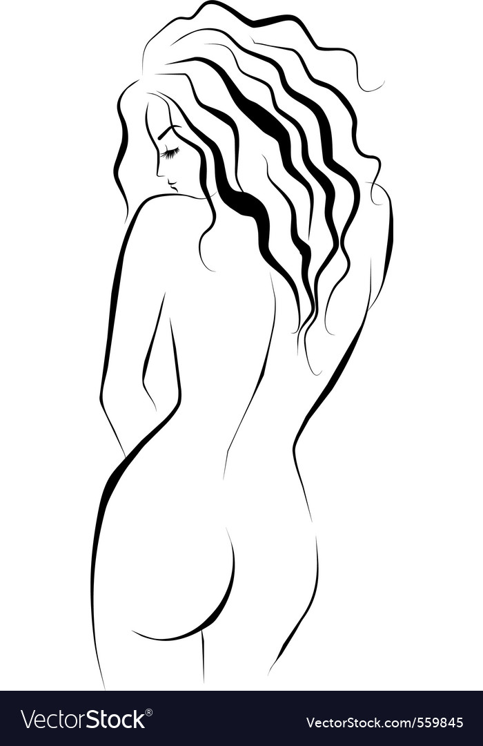 Beautiful female body vector | Price: 1 Credit (USD $1)