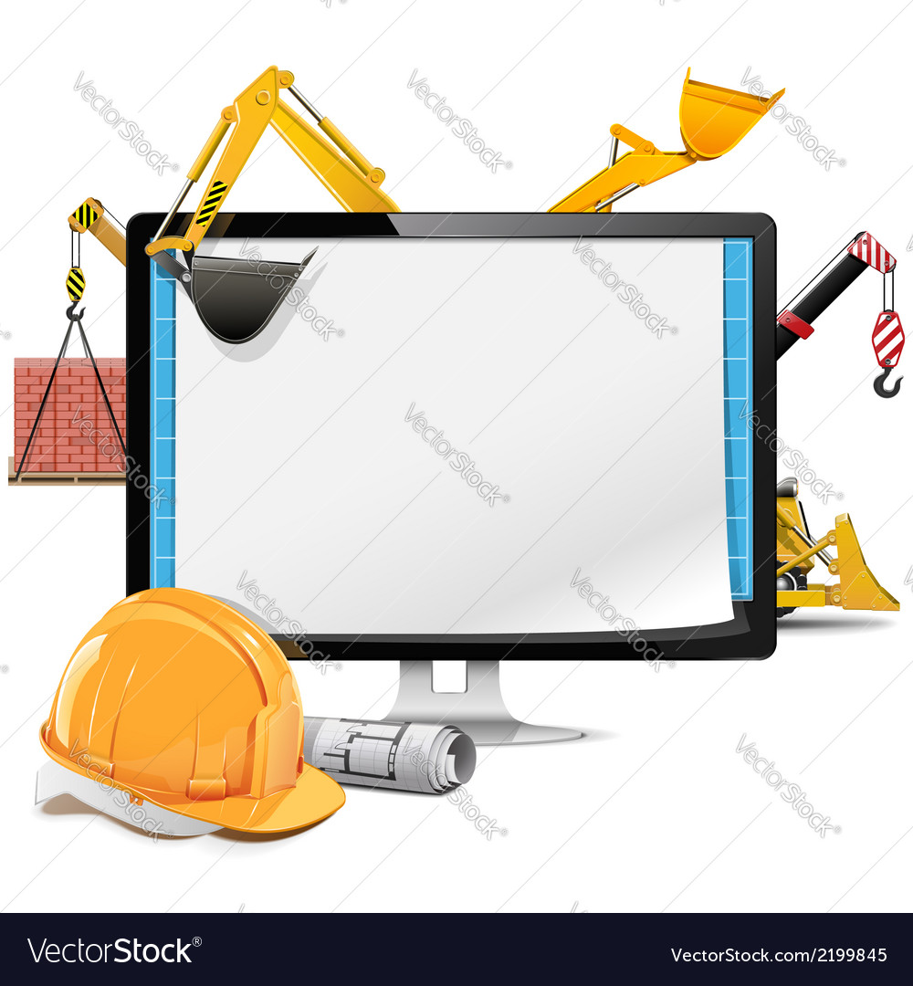 Computer construction project vector | Price: 1 Credit (USD $1)