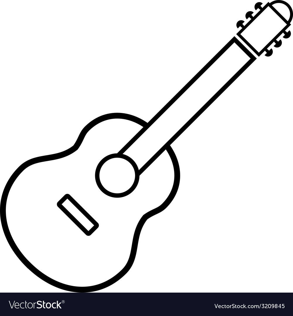 Guitar sign button vector | Price: 1 Credit (USD $1)