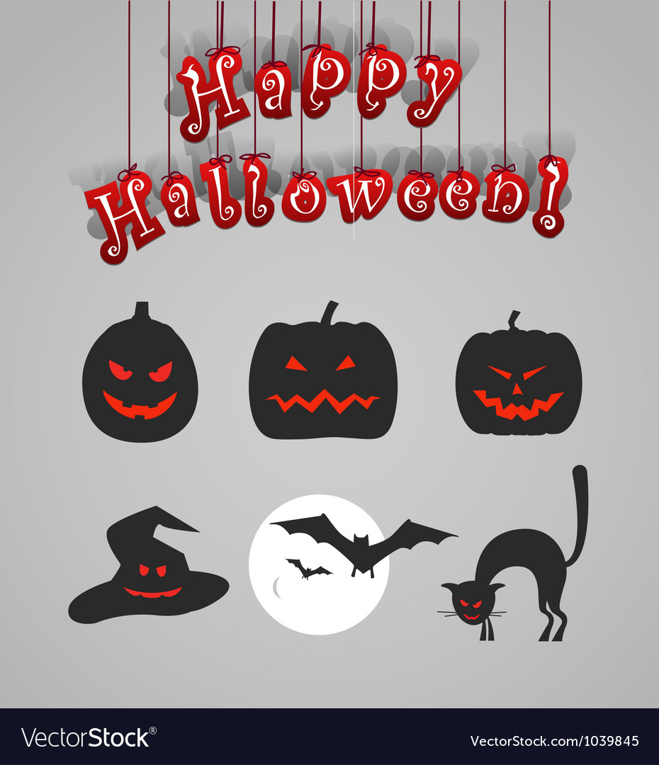 Helloween silhouettes vector | Price: 1 Credit (USD $1)