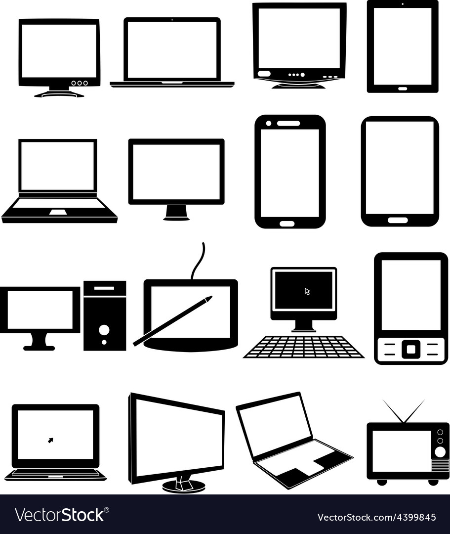 Mobile devices icons set vector | Price: 3 Credit (USD $3)