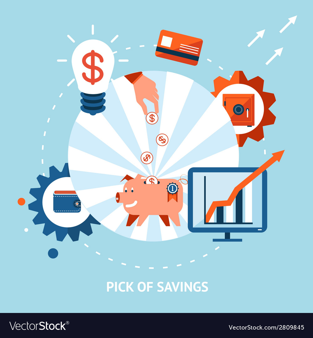 Pick of savings vector | Price: 1 Credit (USD $1)