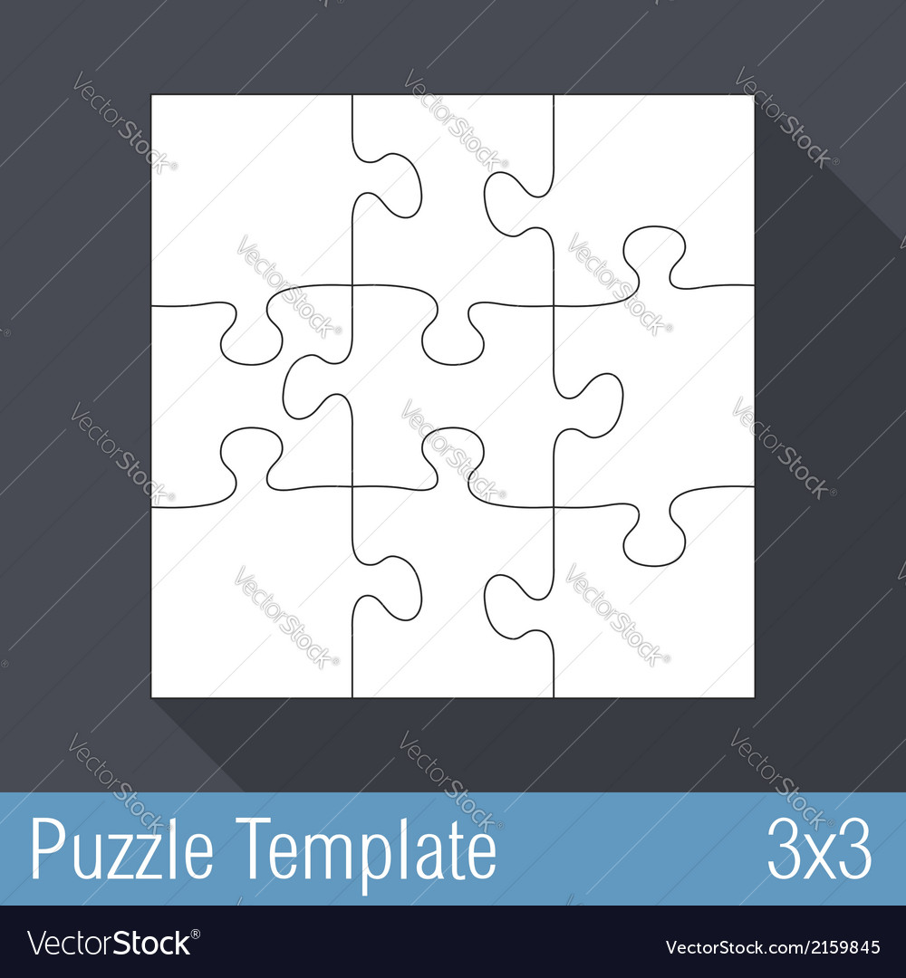 Puzzle template 3x3 vector | Price: 1 Credit (USD $1)