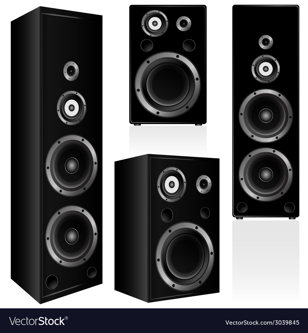 Speaker in black color vector | Price: 1 Credit (USD $1)