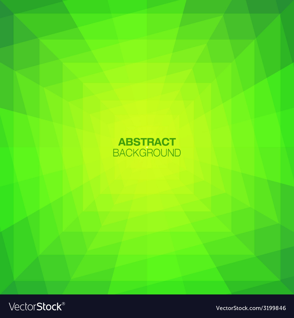 Abstract green geometric tunnel background vector | Price: 1 Credit (USD $1)