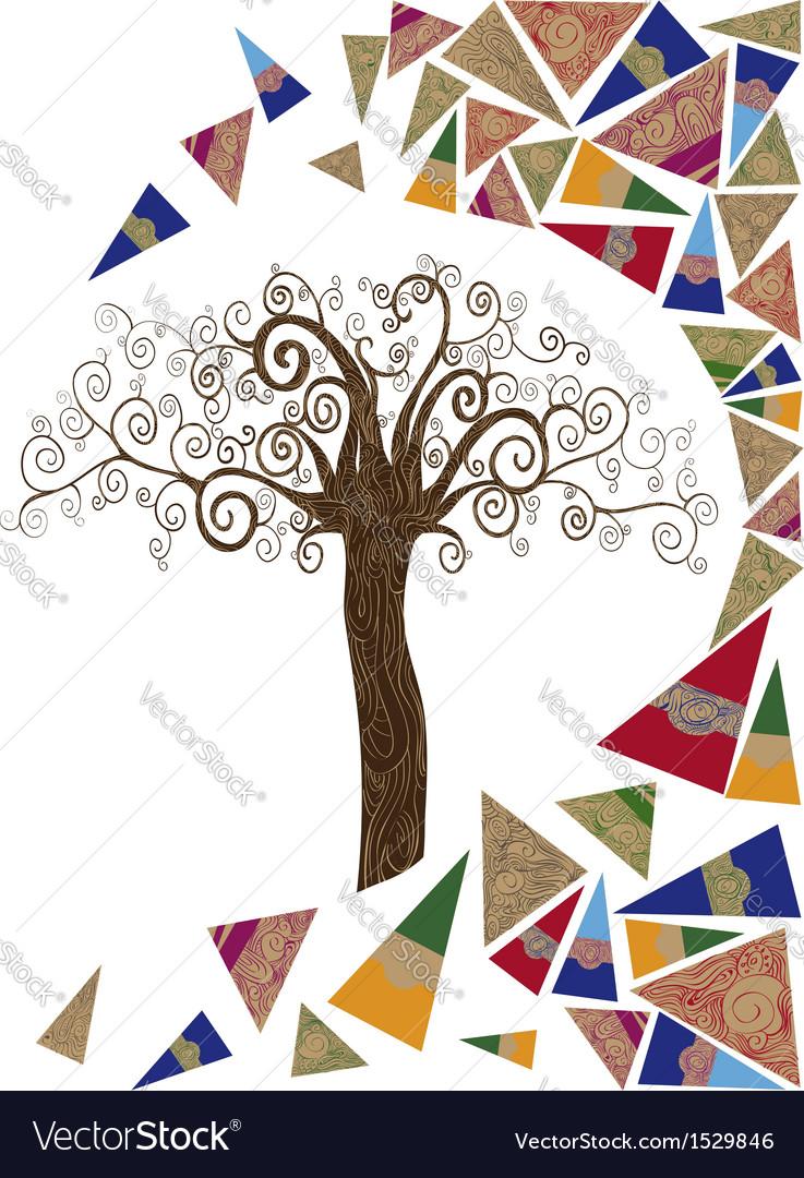 Art tree wave concept vector | Price: 1 Credit (USD $1)