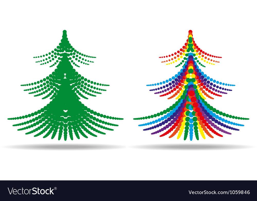 Christmas tree halftone vector